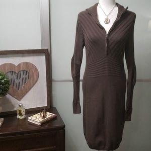 Athleta OC Rib Half Zip Knit Sweater Dress